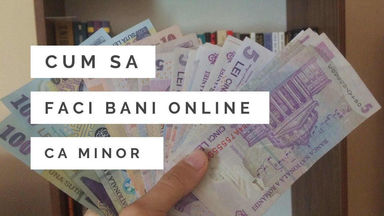 cum să faci bani pe internet la 16 ani câștigați ajutor online