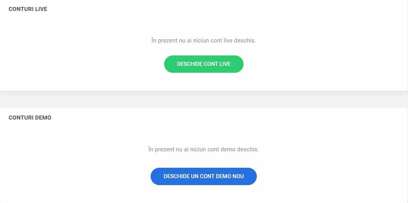 ce este deschiderea unui cont demo