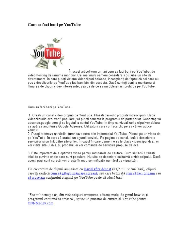 unde puteți viziona clipuri video și de a face bani
