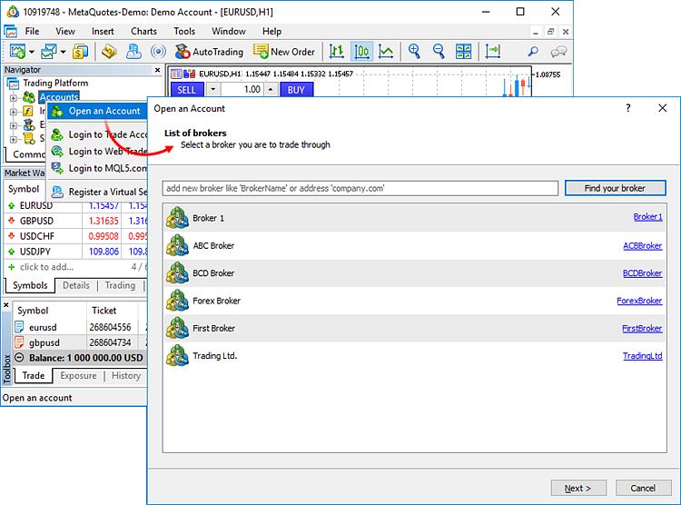 mt5 cu cont demo strategii de opțiuni binare de trend