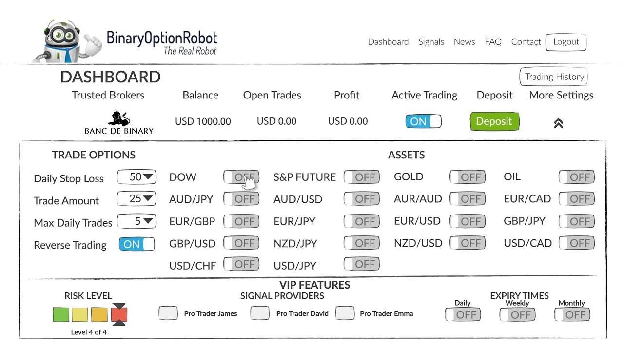 site robot binar