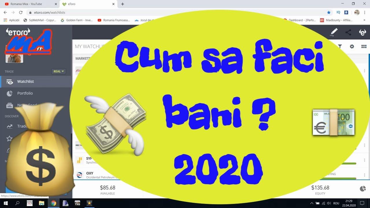 cum să faci bani în 2020